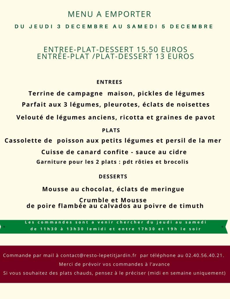 menu du3 décembre
